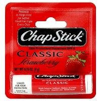 ChapStick classic lip balm SPF 4, Strawberry - 0.15 oz
