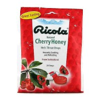Ricola natural herb throat drops, cherry honey - 24 ea, 12 Pack