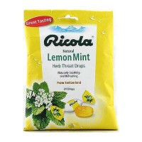 Ricola natural herb throat drops, lemon mint - 24 ea, 12 pack