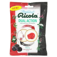 Ricola Dual Action Cough Drops, Cherry - 19 ea, 12 pack