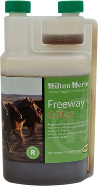 Hilton Herbs Ltd freeway gold respiratory supplement for horses - 2.1pint, 12 ea