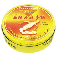 Prince of peace american ginseng root candy, gold tin - 1 tin