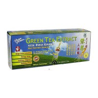 Prince of Peace Green Tea Extract With Panax Ginseng Oral Liquid Vials - 30 ea