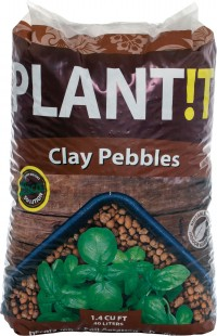 Hydrofarm Products plant!t clay pebbles - 40 liter/4-16mm, 1 ea