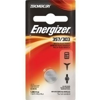 Energizer zero mercury 1.5V watch battery #357BPZ, 6 ea