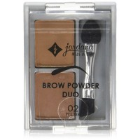 Jordana brow powder duo medium 02 - 6 ea