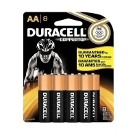 Duracell Coppertop AA Batteries, MN1500B8 - 8 ea