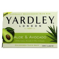 Yardley London naturally mositurizing bar soap, sweet summer aloe and cucumber - 4.25 oz