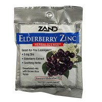 Zand Elderberry Zinc herbalozenge sweet elderberry - 15 ea, 12 pack