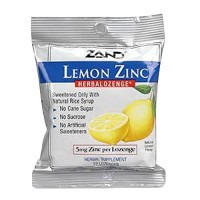 Zand Lemon zinc herbolozenge, Herbal supplement - 15 ea, 12 pack