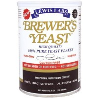 Lewis labs - brewer's yeast flakes nutritional yeast - 12.35 oz