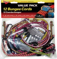 Hampton Products Int'L P bungee cord multi pack - 12 piece, 12 ea
