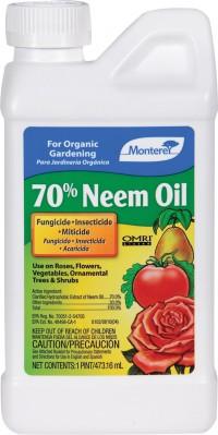 Monterey P monterey 70% neem oil - 16 ounce, 12 ea