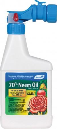 Monterey P monterey 70% neem oil ready to spray - 16 ounce, 12 ea