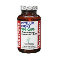 Yerba Prima Psyllium Husks veg caps - 180 capsules