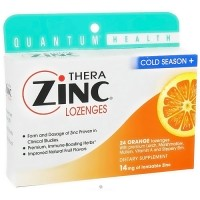 Thera Zinc Lozenges with Echinacea, Orange Flavor, Cold Season - 24 Ea