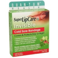 Quantum Health Super Lipcare+ Invisible, Cold Sore Bandage - 12 ea
