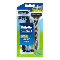 Gillette custom plus 3 disposible razors for sensitive skin - 4 ea