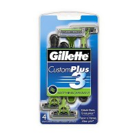 Gillette custom plus 3 disposable soothing razors - 4 ea