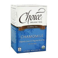 Choice Organic Teas Chamomile Herbal Tea - 16 bags, 6 Pack