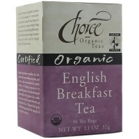 Choice Organic Teas English Breakfast Black Tea - 16 bags, 6 Pack