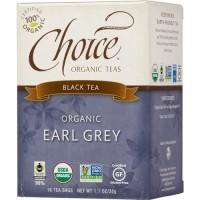 Choice Organic Teas Earl Grey Tea Organic - 16 ea, 6 pack