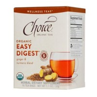 Choice Organic Teas Easy Digest Tea, Ginger And Turmeric Blend - 16 Bags, 6 Pack