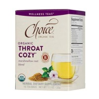 Choice Organic Teas Marshmallow Root Blend Tea, Throat Cozy - 16 Bags, 6 Pack