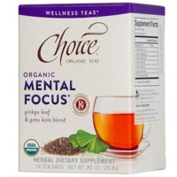 Choice organic teas tea bag mental focus  16 ea ,6 pack