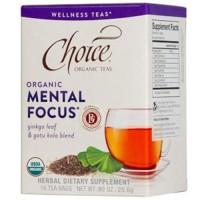 Choice organic teas tea bag mental focus  16 ea ,6 pack
