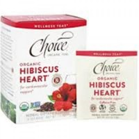 Choice Organic Teas hibiscus heart tea bags - 16 ea, 6 pack
