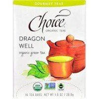 Choice organic teas  gourmet green tea dragon well tea bags  -   16 ea ,6 pack