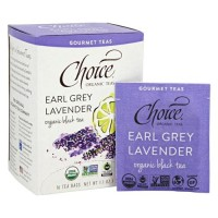 Choice organic teas  gourmet black tea earl grey lavender tea bags  -  16 ea ,6 pack