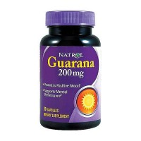 Natrol Guarana 200 mg capsules, promotes positive mood - 90 ea