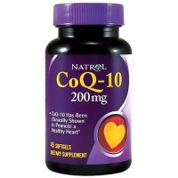 Natrol CoQ-10 200mg capsules promotes heart health with antioxidant  - 45 ea