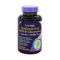 Natrol Hyaluronic Acid MSM And Glucosamine - 90 Veg Capsules