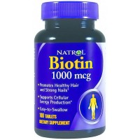 Natrol Biotin 1000mcg tablets for healthy hair and nails - 100 ea