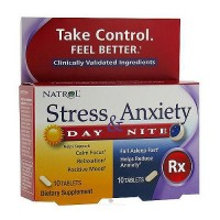 Natrol Stress and Anxiety day and night formula 10 + 10 tablets