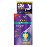 Natrol high absorption zinc, chewable tablets, pineapple  -  60 ea