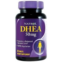 Natrol DHEA 50mg tablets to promote healthy mood - 60 ea