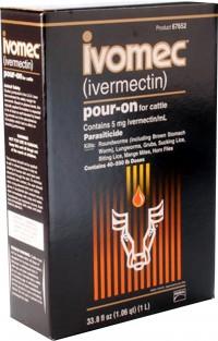 Merial Inc ivomec parasiticide pour-on for cattle - 1 liter, 6 ea