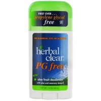 Herbal clear pg free aloe fresh deodorant - 1.8 oz