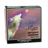 Light Mountain Natural Hair Color and Conditioner, Bright Red - 4 oz