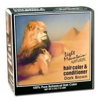 Light Mountain Natural Hair Color and Conditioner, Dark Brown - 4 oz