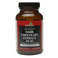 Futurebiotics dark chocolate 500 Mg extract vegetarian capsules - 60 ea