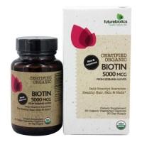 Futurebiotics certified organic biotin 5000 mcg vegetarian capsules  -  60 ea