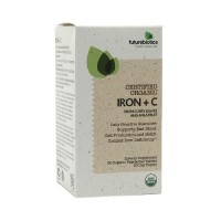 Futurebiotics certified organic vegetarian capsules, iron plus - 90 ea
