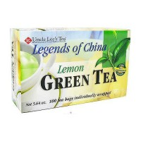 Uncle Lees Tea Legends of China Green Tea, Lemon - 100 Tea Bags