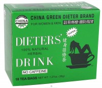 Uncle Lees Tea Dieters Drink Herbal Tea 100% Natural, No Caffeine - 18 tea bags