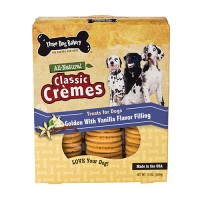 Three Dog Bakery classic cremes golden cookies - 13 oz, 6 ea